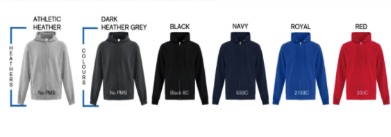 4e3e506ce1d Custom Printed Zip Up Hoodies in Toronto - Personalized Zipper ...