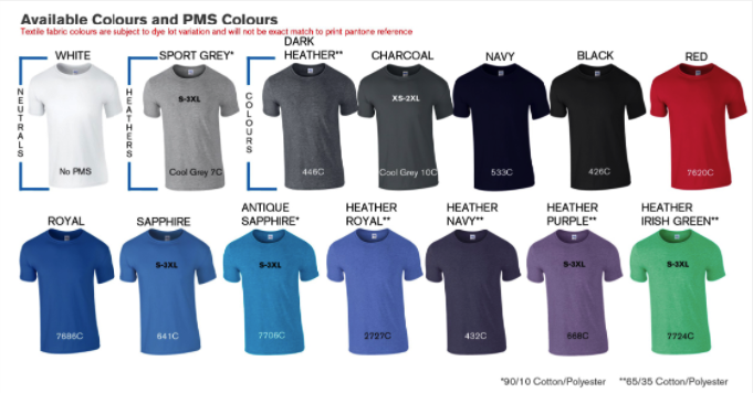 MEN'S SUPER SOFT COTTON TEE colors